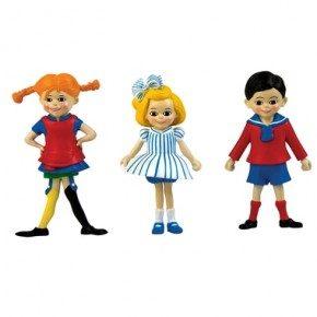Pippi Langstrømpe Figursæt - Pippi, Tommy & Annika