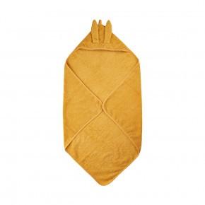 Pippi badehåndklæde m. hætte - mineral gul