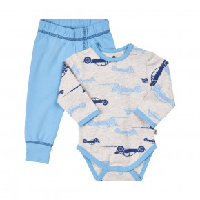 CeLaVi Baby Pyjamassæt m. biler - Blå