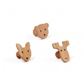 Kids Concept figurkroge - 3 stk