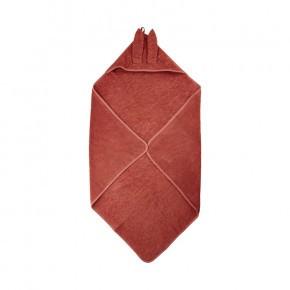 Pippi badehåndklæde m. hætte - rød