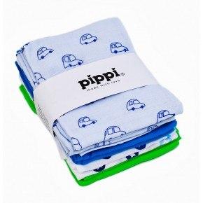 Turkis stofbleer 8-Pak printet 70X70 - Pippi