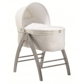 BABY DAN Angel Nest sovekasse, off white med sølv fittings
