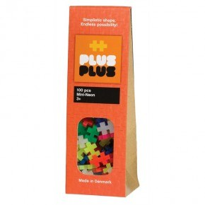 PLUS PLUS MINI Neon 100 pcs Byggeklodser
