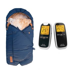 Neonate BC5800D Babyalarm + Sleepbag Kørepose - Midnight Petrol