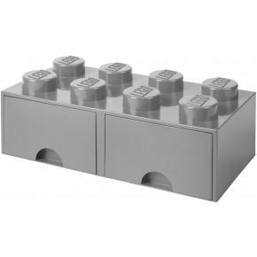 LEGO Brick 8 Opbevaringsskuffe - Grå