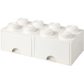 LEGO Brick 8 Opbevaringsskuffe - Hvid