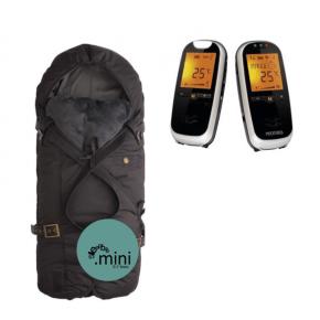 Sleepbag Mini sort/grå+Neonate 6500 Babyalarm