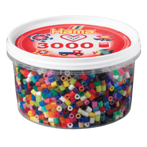 Hama midi perler bæger 3000 stk. mix 68