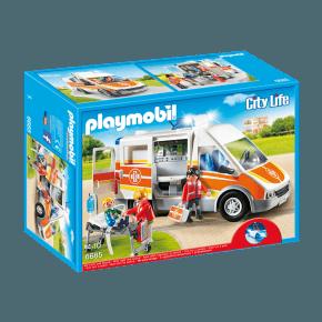 Ambulance m. lyd og lys (6685) - Playmobil