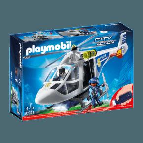 Politihelikopter med LED søgelys (6921) - Playmobil