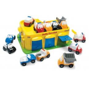 Dantoy autoservice og garage inkl. 12 biler