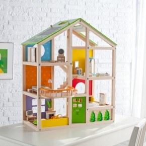 Hape All Season dukkehus med møbler
