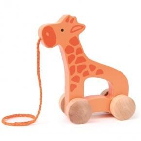 HAPE Push & Pull Giraffe Trækdyr