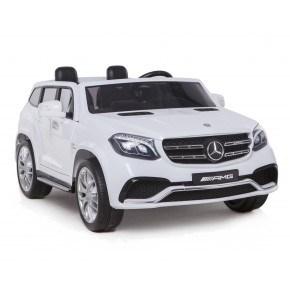 Ride Ons Mercedes GLS 63 - Hvid - Med fjernbetjening