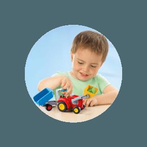 Traktor med Trailer (6964) - Playmobil 1.2.3