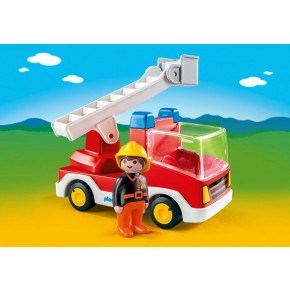 Brandbil med Stige (6967) - Playmobil 1.2.3