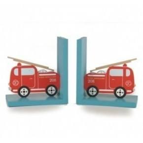 Sass & Belle bogstøtter, brandbiler