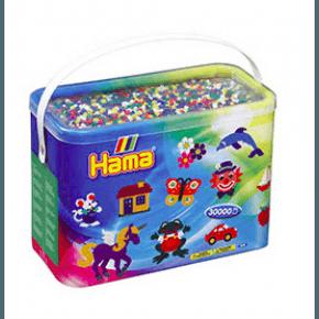 Hama midi perler 30000 stk 6 farver mix