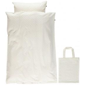Småfolk - Junior sengetøj micro æbler - Cream