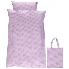 Småfolk Voksen sengetøj med micro æbler - Lavender Sengetøj