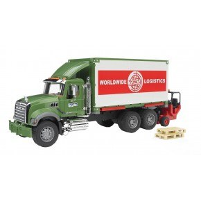 Bruder - Mack Granite m. container og gaffeltruck (1:16)