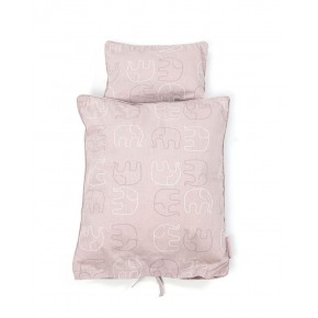 Smallstuff Dukkesengetøj - Rosa elefanter