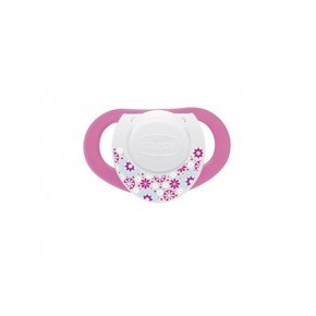 Chicco Physio Soother 6-12m Latex Sut, 2 stk. - Pink