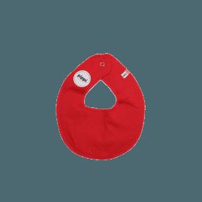 Rød rund hagesmæk - Pippi
