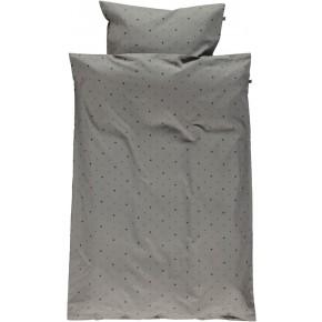 Småfolk Junior Sengetøj med minimultiæbler - Steel Grey