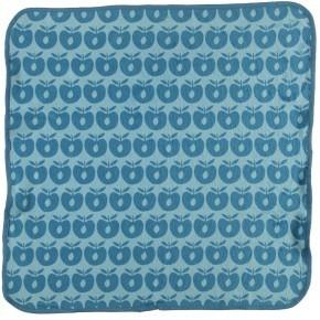 Småfolk Baby Håndklæde med æbler - Air Blue