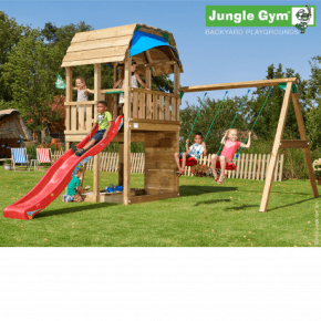 Jungle Gym Legetårn - Barn med gyngemodul