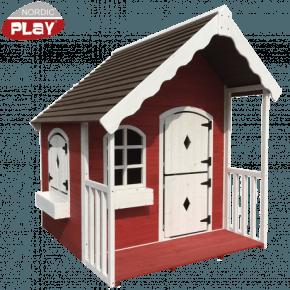 Nordic Play Legehus med veranda - Rød