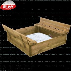 Nordic Play Sandkasse m bænk/låg