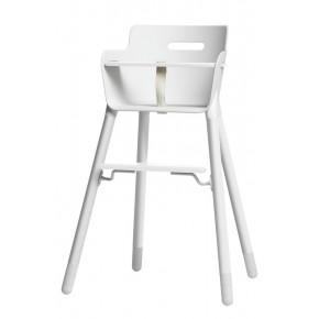 Flexa Baby Højstol m. bøjle og T-sele - Hvid