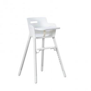 Flexa Baby Højstol m. bakkebord og sele - Hvid