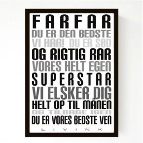 Livink Poster A4 u.ramme - Farfar