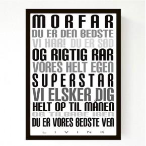 Livink Poster A4 u.ramme - Morfar