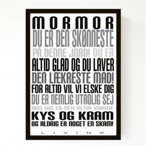 Livink Poster A4 u.ramme - Mormor