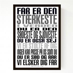 Livink Poster A4 u.ramme - Far