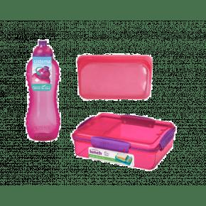 Sistema madpakkesæt 3 dele - Pink