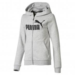 Puma ESS hættetrøje med lynlås - lysegrå