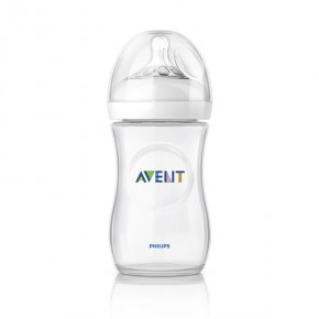 PHILIPS AVENT NATURAL, 260 ml, Slow, 1 stk Sutteflaske