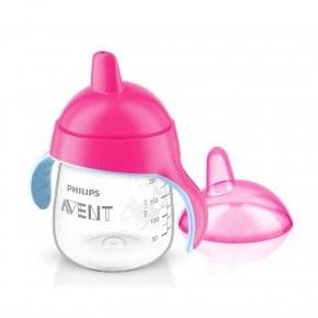 Philips Avent Premium kop m/drikketud 260 ml. pink kop