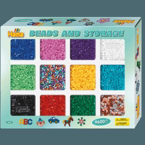 Hama Midi Beads and Storage Perler - Multi