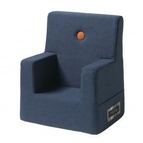 By KlipKlap Kids Chair - Mørk Blå m Orange Knap DEMO