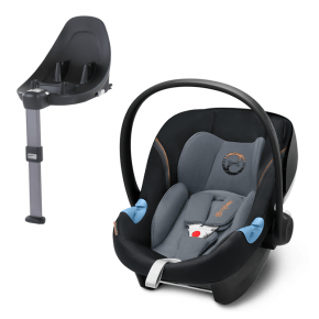 Cybex Aton M i-size, Pepper Black + Base M i-size