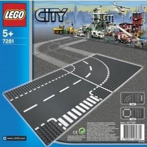 LEGO CITY - T-kryds og Vejsving - 7281