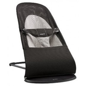 Babybjørn Bouncer Balance Soft - Sort/Grå, mesh