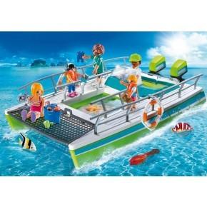 Båd med gennemsigtig bund (9233) - Playmobil
